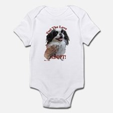 Adopt with Japanese Chin Infant Bodysuit
