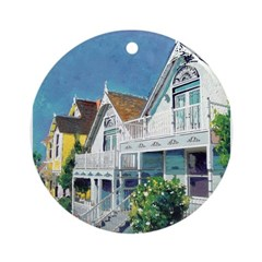 Victorian Row Houses Ornament (Round)