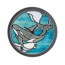 Stained Glass Design Wall Clock