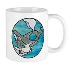 Orca Whale Stained Glass Design Mug