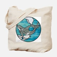 Orca Whale Stained Glass Design Tote Bag