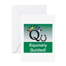 Equinely Guided! Greeting Card