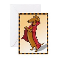 Dachshund Vampire Greeting Card