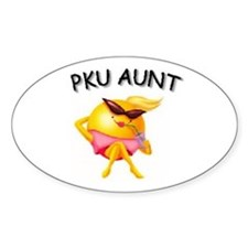 PKU AUNT Oval Decal