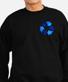 Blue Recycling Symbol Sweatshirt