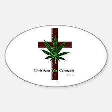 Cute Medicinal cannabis Sticker (Oval)
