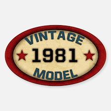 Birthday Vintage Model Year Decal