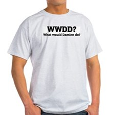 What would Damien do? Ash Grey T-Shirt