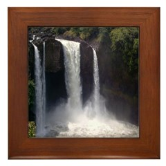 Rainbow Falls in Spring Framed Tile