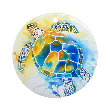 More Sea Turtles Ornament (Round)