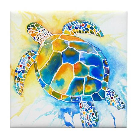 More Sea Turtles Tile Coaster