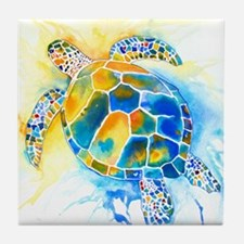 More Sea Turtles Tile Coaster