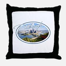 Pittsburgh Postcard Throw Pillow