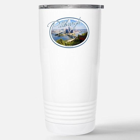 Pittsburgh Postcard Stainless Steel Travel Mug