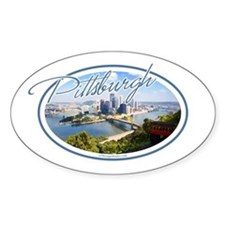 Pittsburgh Postcard Decal