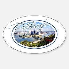 Pittsburgh Postcard Sticker (Oval)