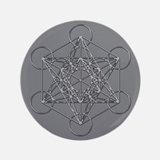 "Metatrons Cube 3.5"" Button"
