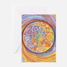 Rainbow Crescents Greeting Cards (Pk of 10)