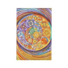 Rainbow Crescents Rectangle Magnet