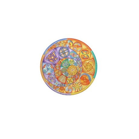Rainbow Crescents Mini Button