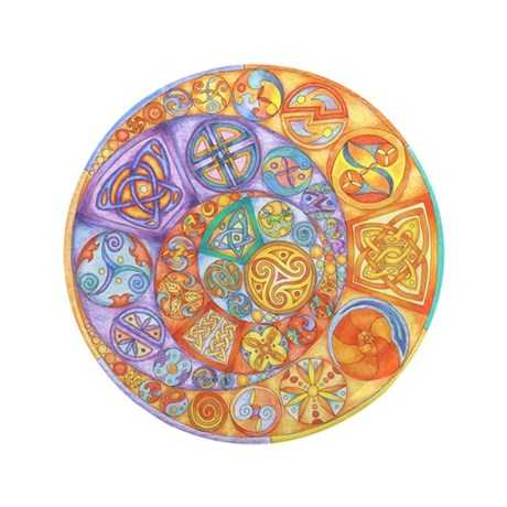 """Rainbow Crescents 3.5"""" Button (100 pack)"""