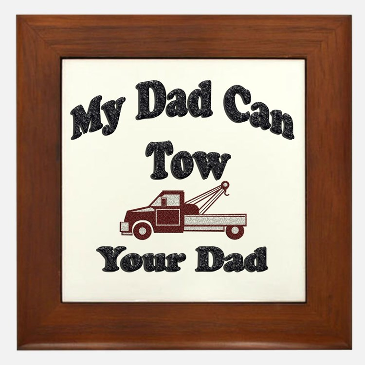 Cute Tow truck Framed Tile