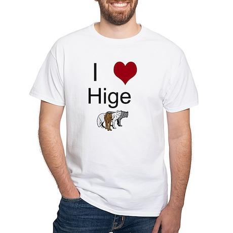 I Heart Hige White T-Shirt