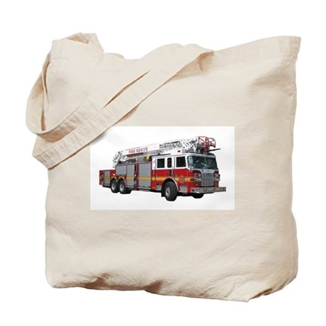 Firetruck Design Tote Bag