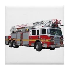 Firetruck Design Tile Coaster