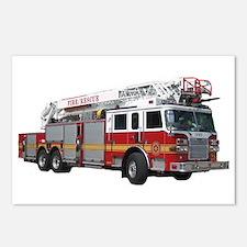 Firetruck Design Postcards (Package of 8)