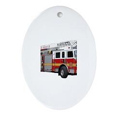 Firetruck Design Ornament (Oval)