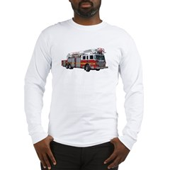 Firetruck Design Long Sleeve T-Shirt