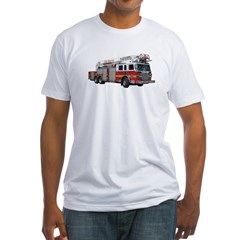 Firetruck Design Fitted T-Shirt