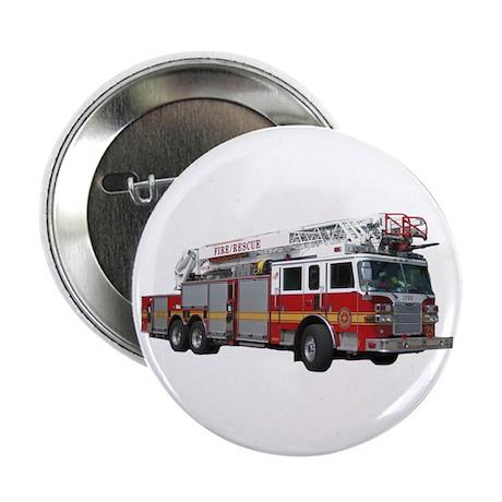 """Firetruck Design 2.25"""" Button"""