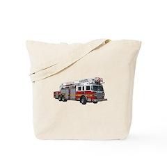 Firetruck Design Tote Bag
