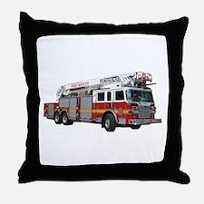 Firetruck Design Throw Pillow