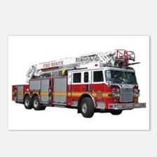 Firetruck Design Postcards (Package of 8)
