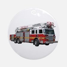 Firetruck Design Ornament (Round)