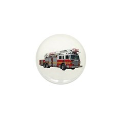 Firetruck Design Mini Button (10 pack)
