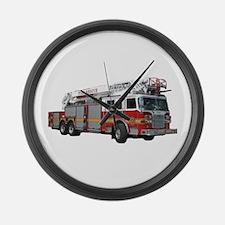 Firetruck Design Large Wall Clock