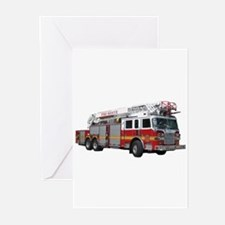 Firetruck Design Greeting Cards (Pk of 20)