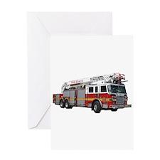 Firetruck Design Greeting Card