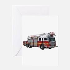 Firetruck Design Greeting Card