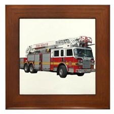 Firetruck Design Framed Tile