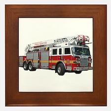 Firetruck Design Framed Tile