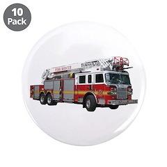 """Firetruck Design 3.5"""" Button (10 pack)"""