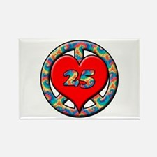 Cute 25th birthday Rectangle Magnet