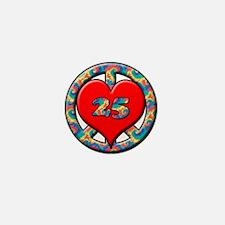 Cute 25th birthday Mini Button (10 pack)