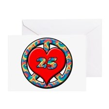 Peace love birthday Greeting Card