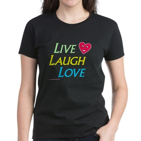 Live-Laugh-Love - Women's Dark T-Shirt